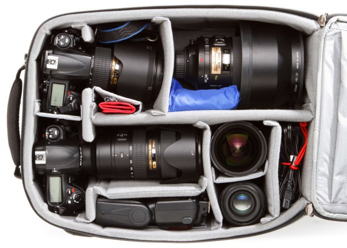 Accelerator loaded with an assortment of Nikon Gear